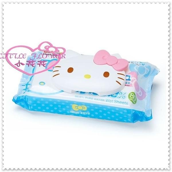小花花日本精品♥ Hello Kitty 濕紙巾 濕紙巾蓋 紙巾黏貼蓋 白色大臉 33136509