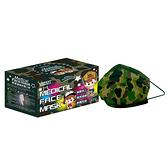 萊潔 醫療防護口罩兒童-軍綠迷彩紋(50入/盒裝)