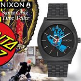 NIXON x Santa Cruz Time Teller聯名限定街頭潮流腕錶A045-2894公司貨/極限運動/名人
