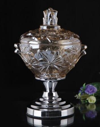 協貿國際水晶玻璃糖果罐儲物罐1入