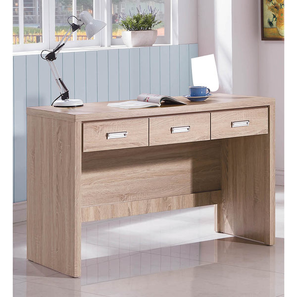 【森可家居】安迪橡木紋4尺書桌 7SB234-4 辦公桌 木紋質感 無印北歐風 MIT台灣製造