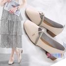 豆豆鞋 單鞋女中跟小皮鞋新品夏季淺口奶奶鞋百搭粗跟復古仙女豆豆鞋【618大促銷】