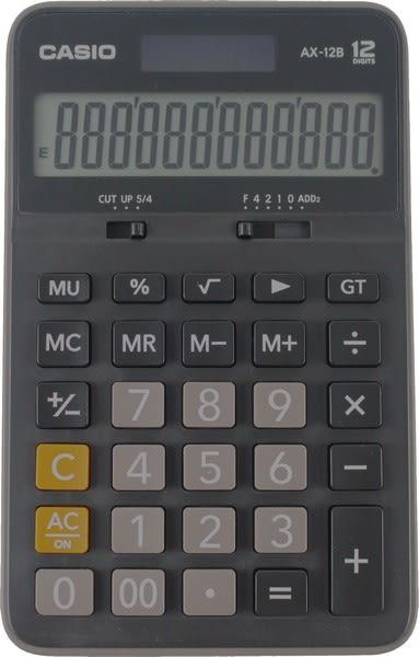 CASIO卡西歐 AX-12B計算機 (AX-12S更新版)12位數中長型商用計算機/一台入{定500}