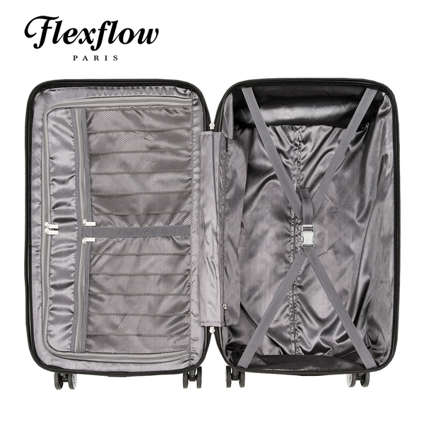 Flexflow 原色黑 29型 特務箱 智能測重 防爆拉鍊旅行箱 南特系列 29型行李箱 【官方直營】