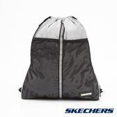 SKECHERS 運動束口袋 灰 - S45238