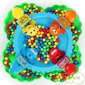青蛙吃豆玩具兒童親子對戰桌面益智互動貪吃青蛙搶豆【繁星小鎮】