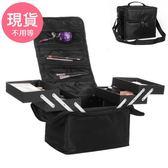 24H現貨單肩手提雙開多層專業化妝箱美甲紋繡彩妝工具收納包 EC40001