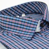 【金‧安德森】紅藍格紋窄版長袖襯衫
