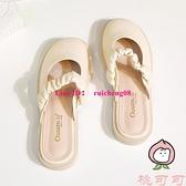 穆勒鞋淺口女鞋懶人包頭半拖鞋女夏季外穿平底涼拖【桃可可服飾】