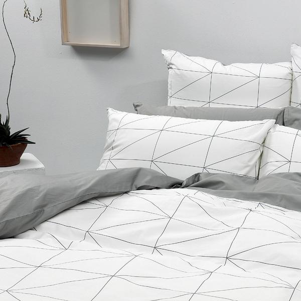 《 60支紗》單人床包被套枕套三件組【旅人】-麗塔LITA -