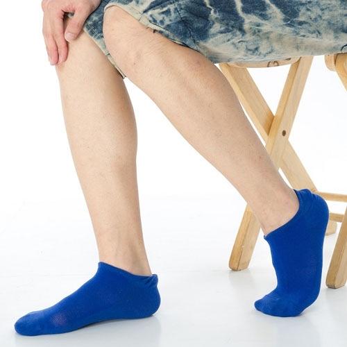 【南紡購物中心】【KEROPPA】可諾帕網狀造型男船襪x4雙C97001寶藍