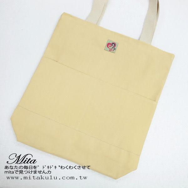*Mita*MI-0445京都風梳子手提包 肩背包 帆布拼接包