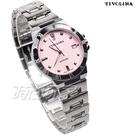 TIVOLINA 優雅來自於精緻 單鑽錶 女錶 防水錶 藍寶石水晶鏡面 粉紅色 MAW3705PP