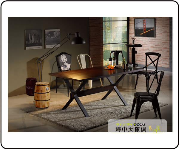 {{ 海中天休閒傢俱廣場 }} C-25 摩登時尚 餐廳系列 450-1 安德烈5.8尺胡桃餐桌(不含椅)