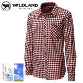 丹大戶外用品 荒野【Wildland】男款格子布保暖襯衫/長袖襯衫/格子襯衫/吸濕排汗 0A12206-07 酒紅