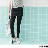《BA3426-》假兩件式交叉層次裙襬包臀短裙內搭褲.4色 OB嚴選
