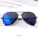 藍色復古式金屬墨鏡【NY327】