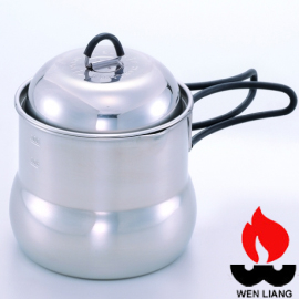 【Wen Liang 文樑 攜帶型炊具 】ST-2005/不鏽鋼/湯鍋/露營/登山/泡茶/咖啡/茶壺鍋