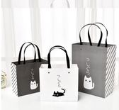 送禮物盒 禮品袋手提袋韓版文藝小清新生日伴手禮物糖果包裝盒簡約紙袋定做 珍妮寶貝