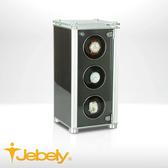 【Jebely】機械手錶自動上鍊盒 現代複合材質 JBW611 太空銀黑 三手錶轉台 動力儲存錶機 台灣製