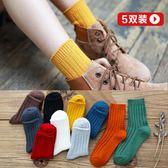 襪子女秋冬款堆堆襪中筒正韓正韓學院風日系保暖加厚黑色長襪 生日禮物
