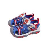 MARVEL 漫威 蜘蛛人 涼鞋 電燈鞋 藍色 中童 童鞋 MNKT09126 no710