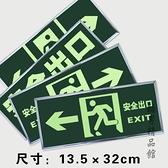夜光安全出口指示牌左右指向箭頭提示牌消防通道疏散應急逃生指示牌 酷男精品館