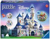 捷克製 德國維寶拼圖 Ravensburger Puzzle 3D拼圖 迪士尼城堡系列 216片 拼圖套盒