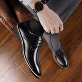 皮鞋男士男鞋新款夏季英倫商務正裝尖頭休閒黑色鞋子男潮 童趣