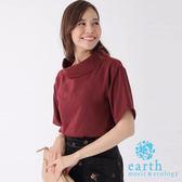 ❖ Hot item ❖ 領口反摺短袖襯衫上衣 - earth music&ecology