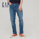 Gap男裝 淺色中腰修身款牛仔褲 777032-靛藍色