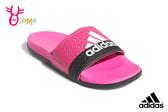 adidas ADILETTE CLOUDFOAM 成人女款 中大童 拖鞋 極舒適軟Q 運動 紓壓拖鞋 Q9383#粉紅◆OSOME奧森鞋業