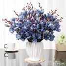 餐桌假花 歐式裝飾 高檔仿真玉蘭花室內擺花家居擺件客廳花束擺設·快速出貨YTL