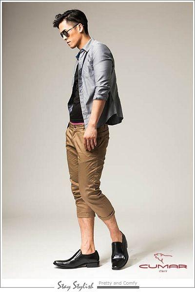 CUMAR紳士專屬真皮皮鞋-黑