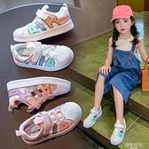 女童鞋夏季包頭涼鞋2021新款春中大童沙灘鞋潮牌兒童運動鞋鏤空男