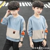 男童春秋裝長袖T恤2020新款中大童衛衣男孩上衣打底衫兒童洋氣潮 美眉新品