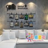 壓克力牆貼 創意個性照片牆貼紙壓克力3d立體相框牆貼客廳沙發背景牆裝飾貼畫 3色