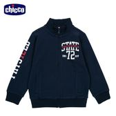 chicco-To Be-素色高領外套-青