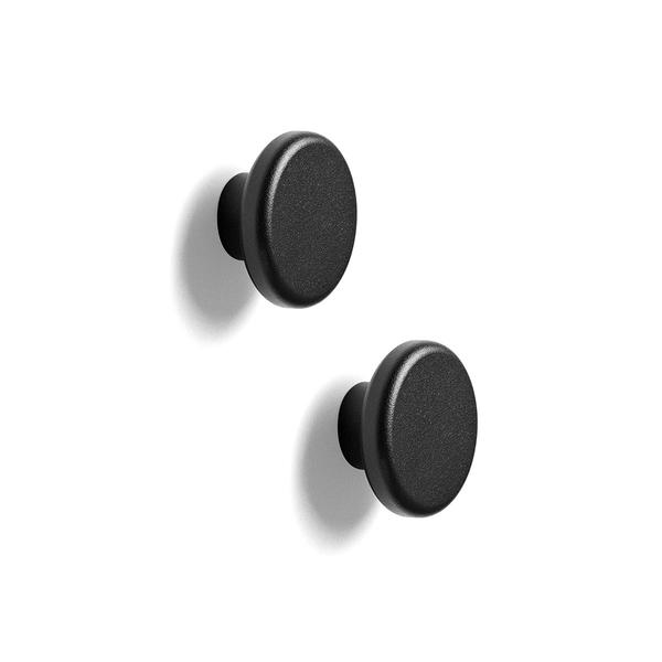 丹麥 Menu Knobs Hanger 2-Pack 旋鈕系列 壁掛掛勾 兩件組(黑色金屬)