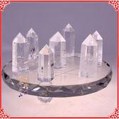 開光天然白水晶簇七星陣擺件