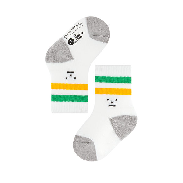 韓國 socks appeal® X SML 聯名雙槓運動襪 寶寶 (黃綠)