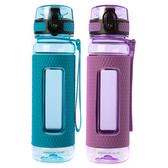 (組)潔西彈蓋水壺450ml藍+紫