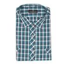 【南紡購物中心】【PIERRE BALMAIN 皮爾帕門】長袖襯衫-基本款藍綠色格子(F2)