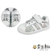 【樂樂童鞋】台灣製冰雪奇緣2親子休閒鞋-童款白色 F064-1 - 女童鞋 休閒鞋 大童鞋 布鞋 台灣製