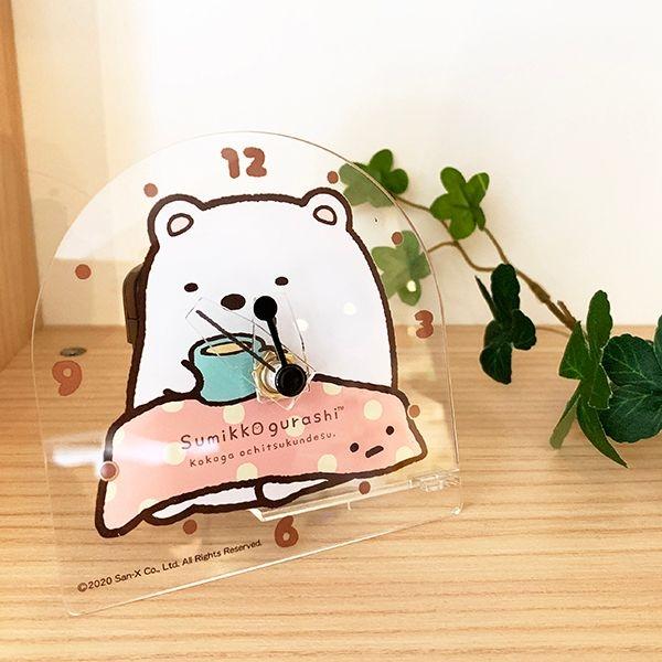 【角落生物 桌上型時鐘】角落生物 桌上型 時鐘 透明 情境 療癒 角落小夥伴 日本正版 該該貝比