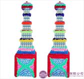 【大堂人本】JY12- 木柱方形五層全飲品罐頭塔(242瓶)