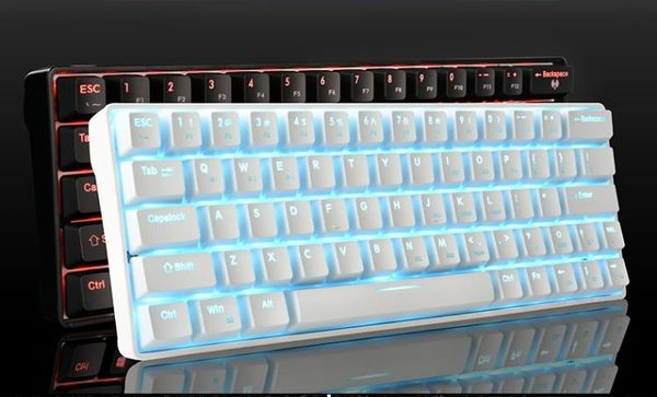 數字鍵盤    便攜式64鍵小型機械鍵盤 青軸紅軸茶軸電競游戲有線筆記本  mks  瑪麗蘇