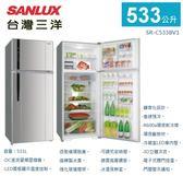 【佳麗寶】-留言加碼折扣《台灣三洋 / SANLUX 》變頻雙門冰箱-533L【SR-C533BV1】