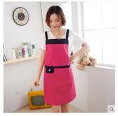 廚房防水防汙圍裙日版簡約時尚圍裙LYH1542【大尺碼女王】