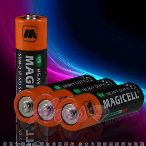 情趣用品-熱銷商品 3號電池系列 全新無敵 MAGICELL三號電池 SUM-3(R-6P)SIZE AA 1.5V-四入 +潤滑液1包
